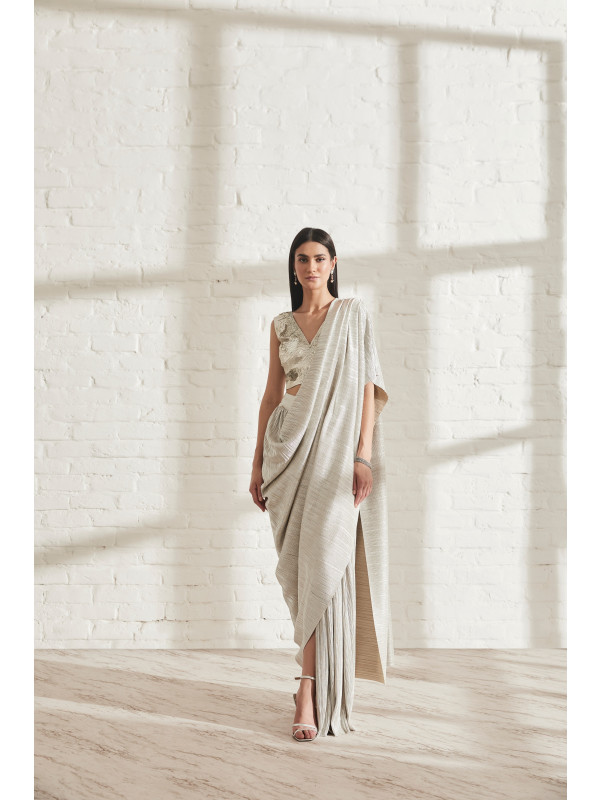 Metallic 2.0 Sari with APS Blouse