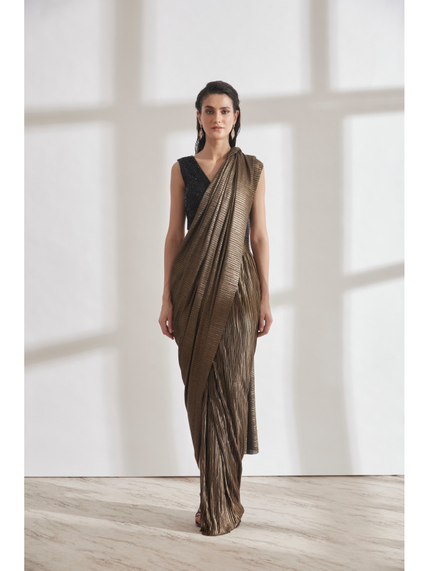 Metallic 2.0 Sari with Masai Top