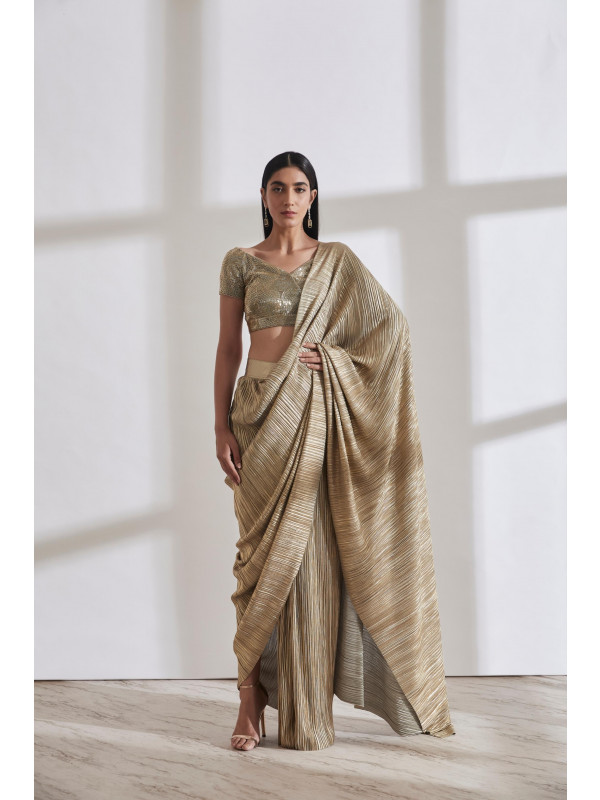 Metallic 2.0 Sari with Milkyway Nikki Blouse