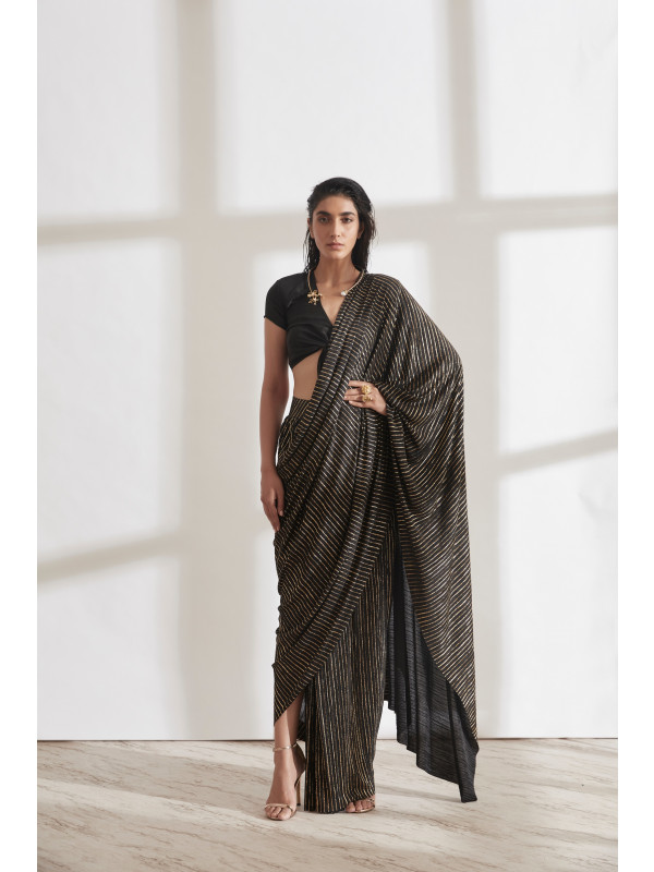 Metallic 2.0 Sari with New Knot Top