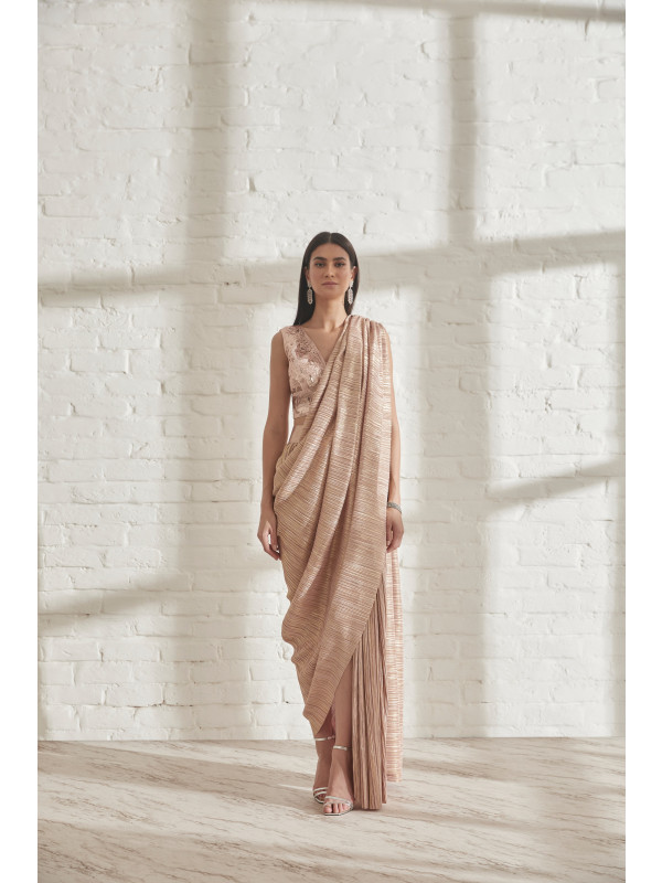 Metallic 2.0 Sari with AP Blouse