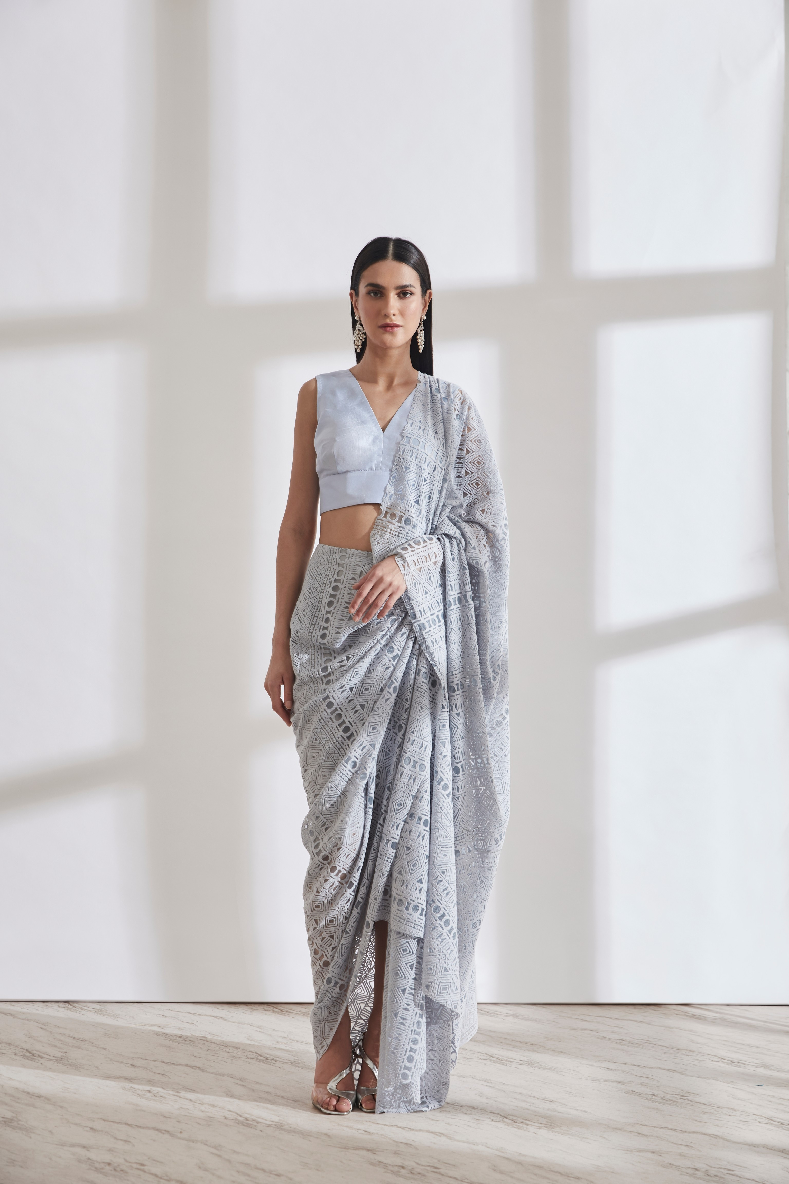 Godet Sari with Vik Blouse